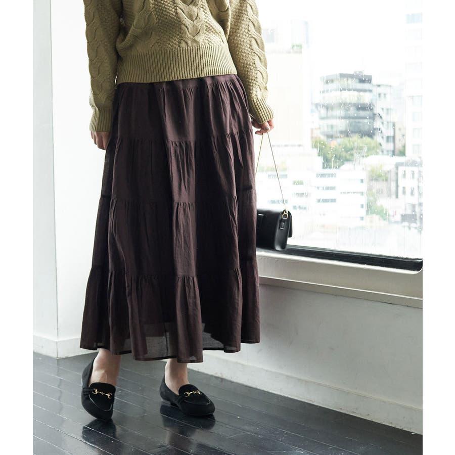 インド綿ボイルティアードスカート 31