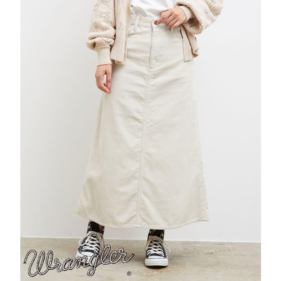 【一部店舗限定】【WRANGLER×ROPE' PICNIC】コーデュロイフレアスカート 1