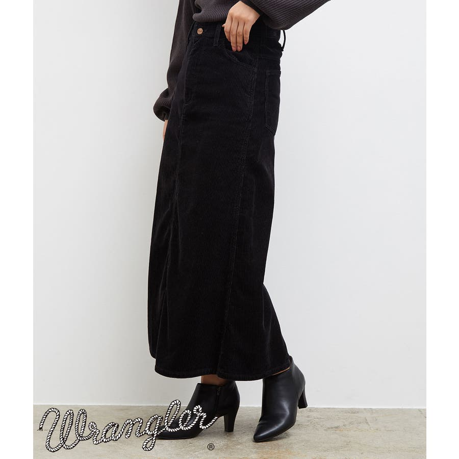 【一部店舗限定】【WRANGLER×ROPE' PICNIC】コーデュロイフレアスカート 21