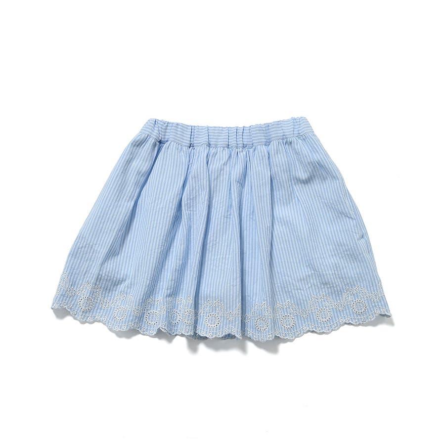 【ROPE' PICNIC KIDS】インナーパンツ付きスカラップレーススカート 2