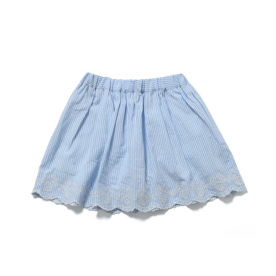 【ROPE' PICNIC KIDS】インナーパンツ付きスカラップレーススカート 3