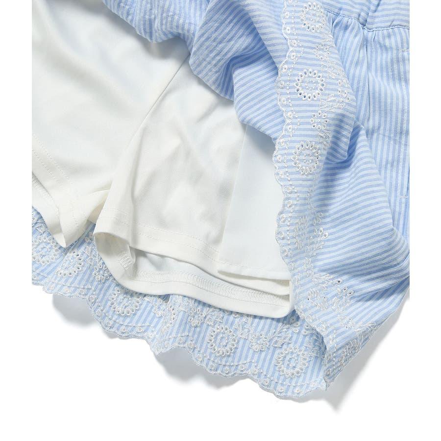 【ROPE' PICNIC KIDS】インナーパンツ付きスカラップレーススカート 8