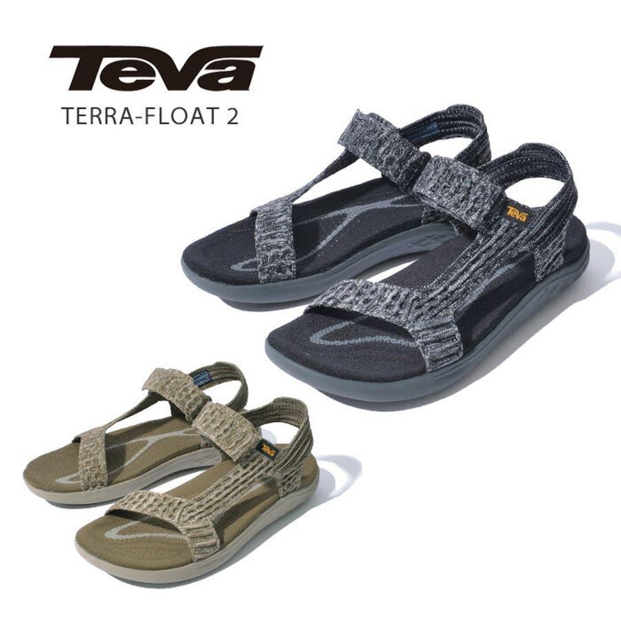 TEVA テバ TERRA-FLOAT2 KNIT UNIVERSAL ウィメンズ テラフロート サンダル 1091593スポーツサンダル 靴 ブラック グレー 1