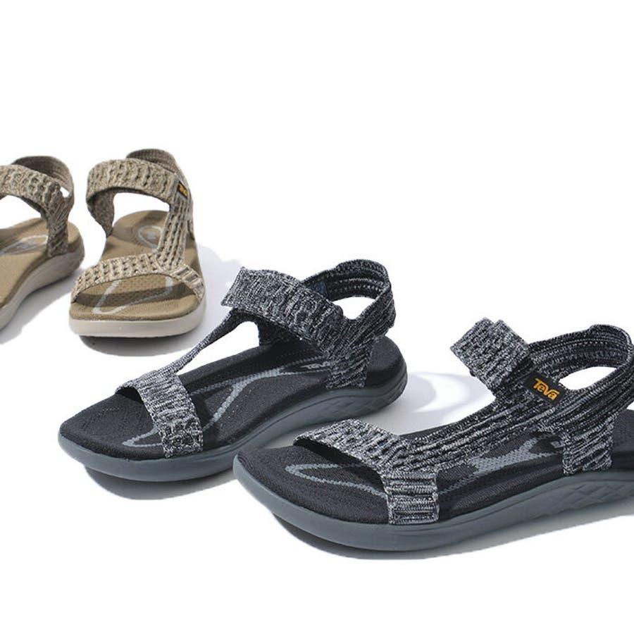 TEVA テバ TERRA-FLOAT2 KNIT UNIVERSAL ウィメンズ テラフロート サンダル 1091593スポーツサンダル 靴 ブラック グレー 4
