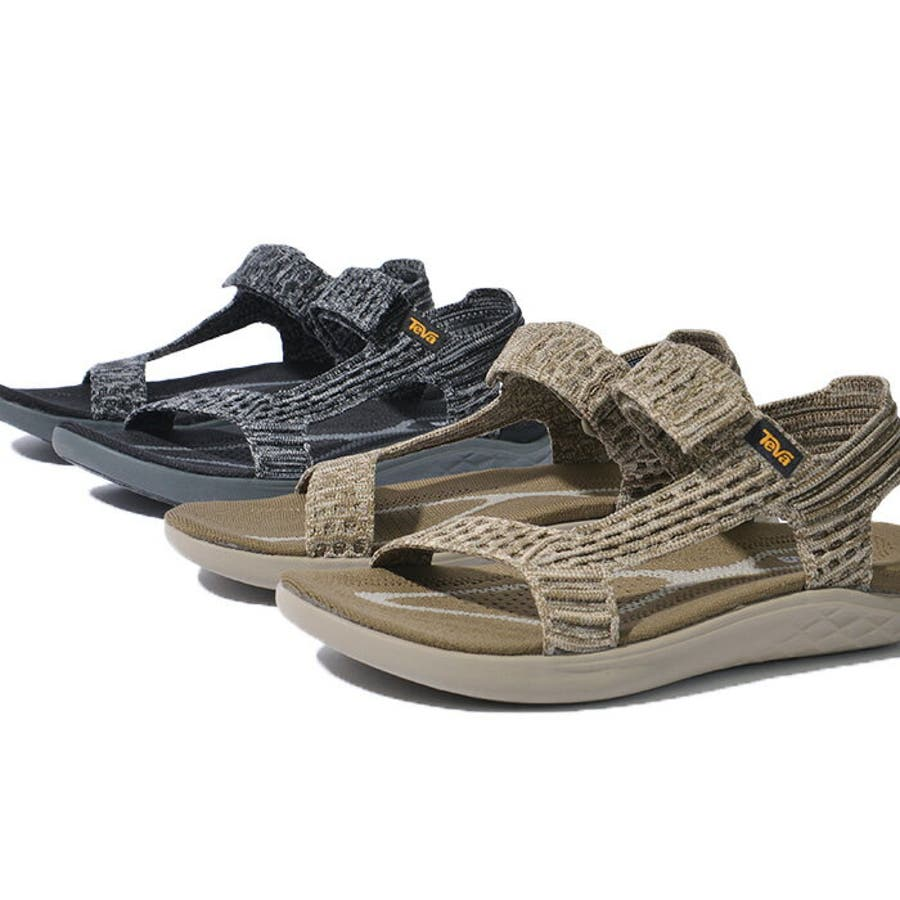 TEVA テバ TERRA-FLOAT2 KNIT UNIVERSAL ウィメンズ テラフロート サンダル 1091593スポーツサンダル 靴 ブラック グレー 5