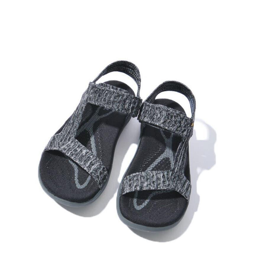 TEVA テバ TERRA-FLOAT2 KNIT UNIVERSAL ウィメンズ テラフロート サンダル 1091593スポーツサンダル 靴 ブラック グレー 6