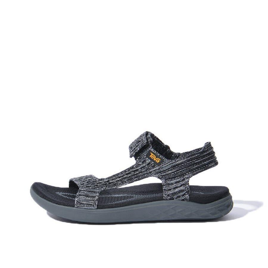 TEVA テバ TERRA-FLOAT2 KNIT UNIVERSAL ウィメンズ テラフロート サンダル 1091593スポーツサンダル 靴 ブラック グレー 7