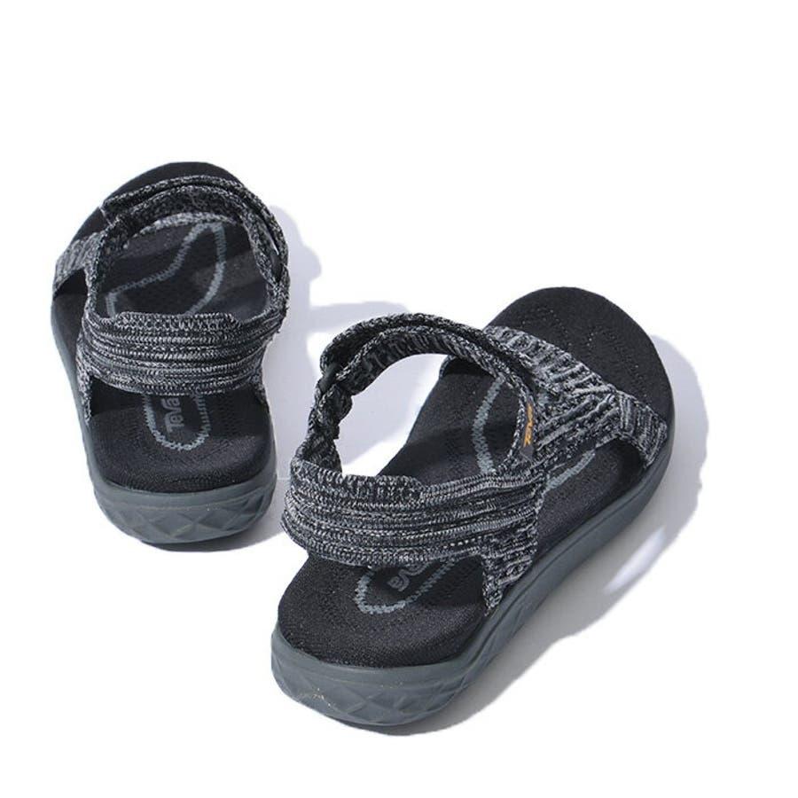TEVA テバ TERRA-FLOAT2 KNIT UNIVERSAL ウィメンズ テラフロート サンダル 1091593スポーツサンダル 靴 ブラック グレー 8