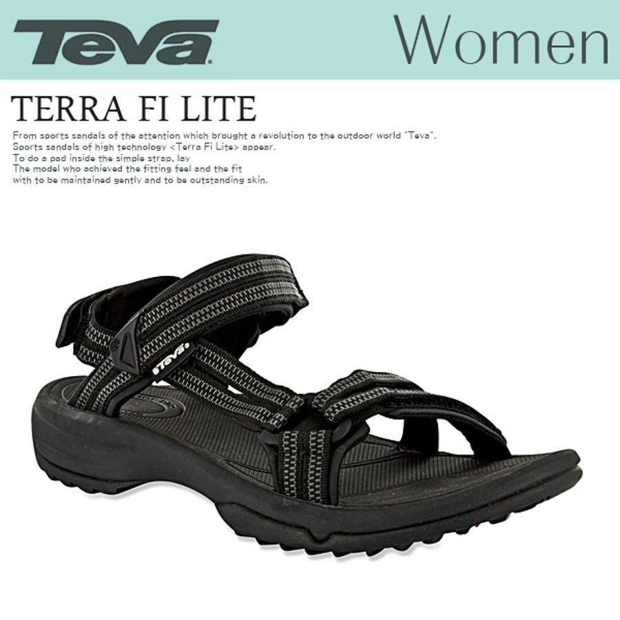 着回し100点 jg TEVA レディース サンダル Teva テバ スポーツサンダル Women ストラップサンダル TERRA FILITE テラ ファイライト ダブルジッパーブラック 黒 ブラック スポーツサンダル 号数