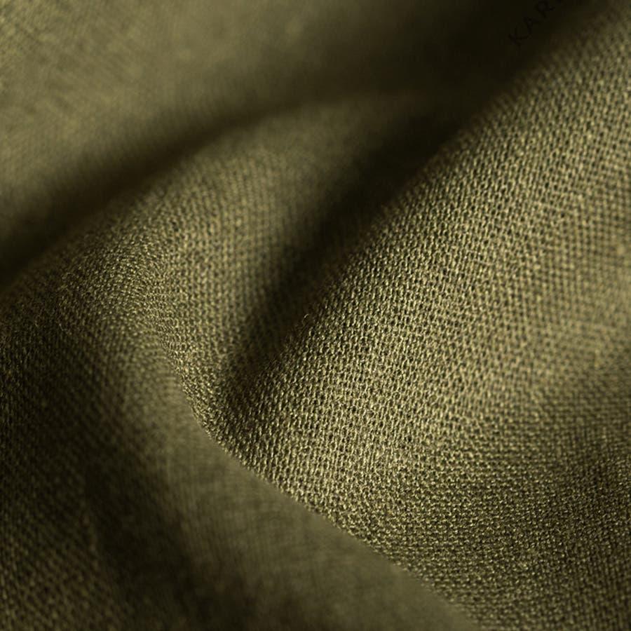 新感覚巻きスカート コットン スカート フレアスカートマキシ丈 ロングスカート 綿麻素材 ウエストゴムリボンベルトマキシ丈サイドの紐ベルト ポケット付き 重ね風 Aライン 巻きスカート ボトムス レディース 5