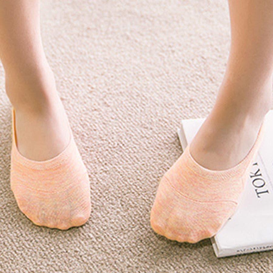 ソックス 靴下 フィットカバー インソックス 浅口 伸縮性 無地 かかと痛くない 滑りにくい 抗菌消臭加工 レディース<br> 102