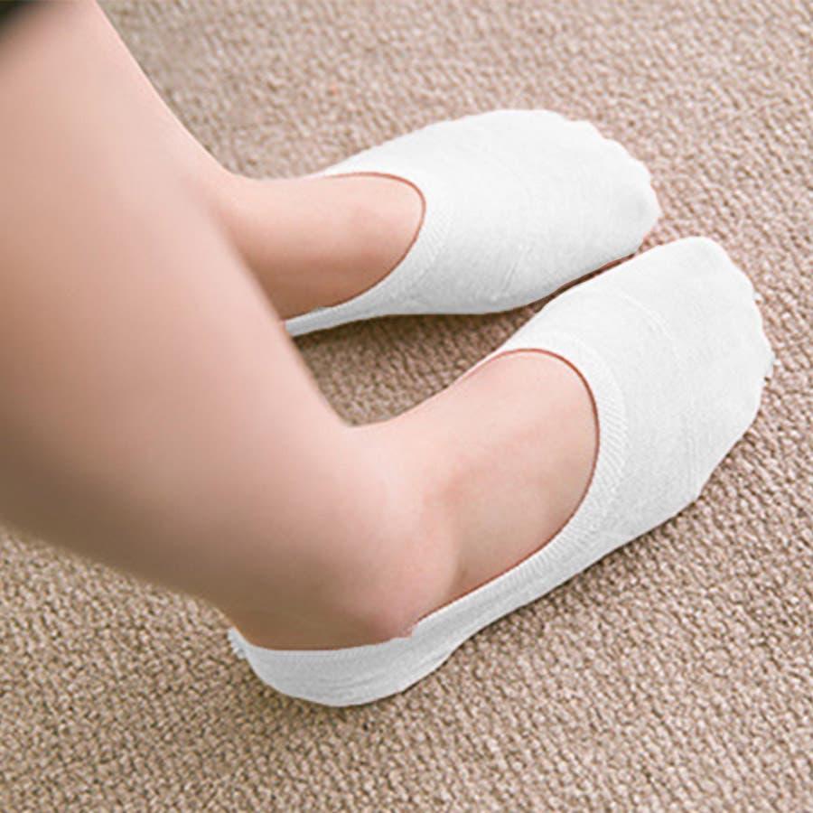 ソックス 靴下 フィットカバー インソックス 浅口 伸縮性 無地 かかと痛くない 滑りにくい 抗菌消臭加工 レディース<br> 16