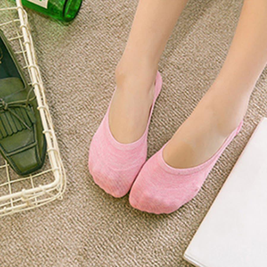ソックス 靴下 フィットカバー インソックス 浅口 伸縮性 無地 かかと痛くない 滑りにくい 抗菌消臭加工 レディース<br> 87