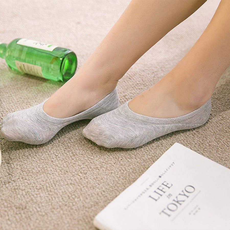 ソックス 靴下 フィットカバー インソックス 浅口 伸縮性 無地 かかと痛くない 滑りにくい 抗菌消臭加工 レディース<br> 23
