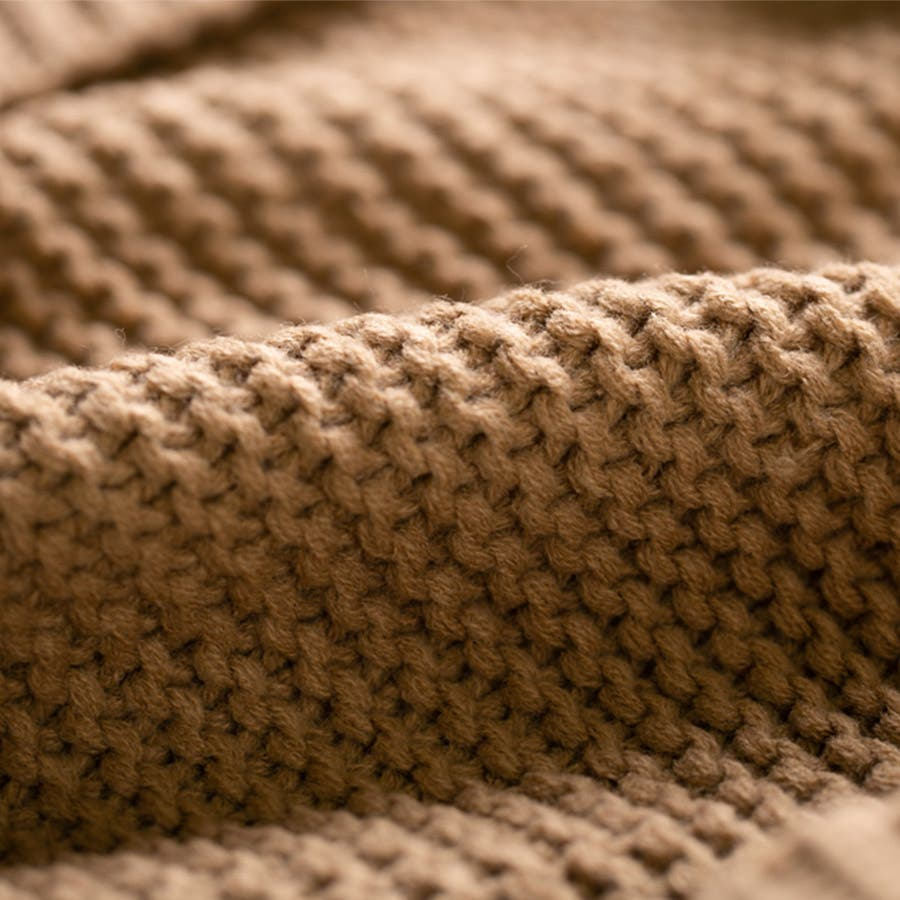 ケーブル編み ニット カーディガン レディース カーデ ミドル丈 オーバー ゆったり 羽織 アウター ボリューム感 ドロップショルダー リブ袖 立体的<br> 2