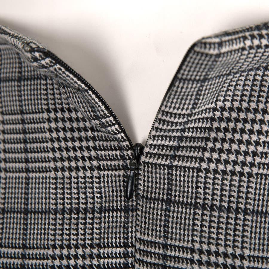グレンチェックスカート 花びらデザイン ゆるゆる ミモレ丈スカート アシンメトリー ロングスカート 個性 ボトムスレディース 7