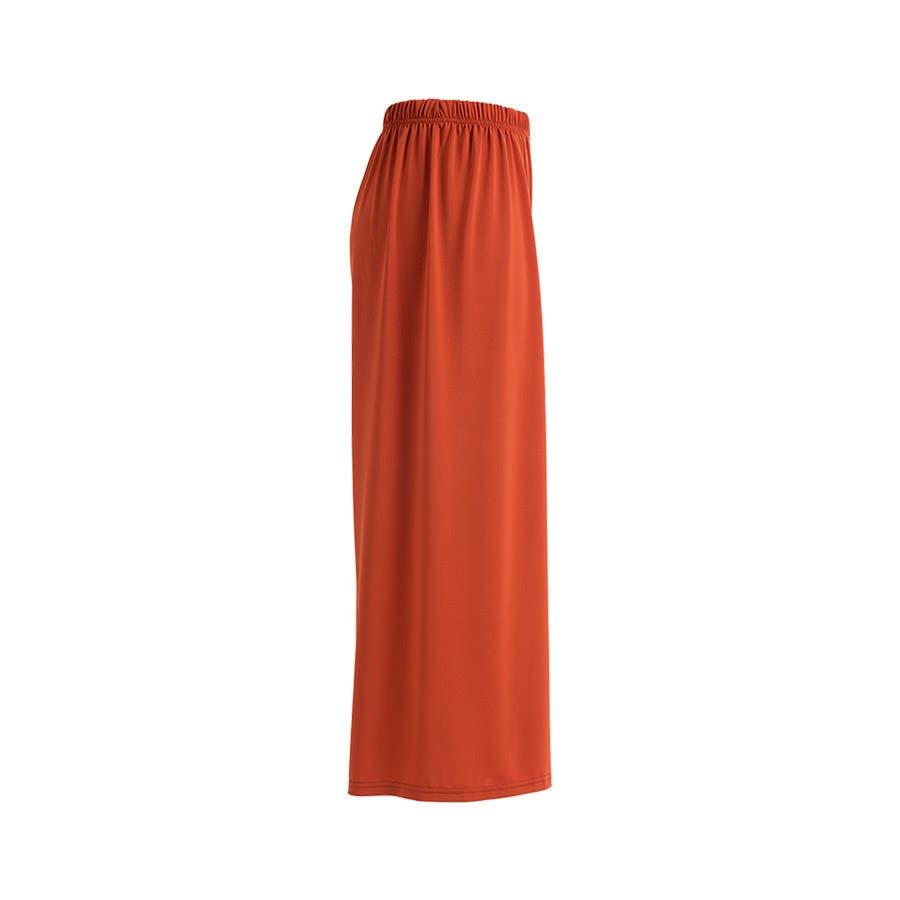 3タイプ ガウチョパンツ シンプル パンツ タック入り ボトムス ウエストゴム 伸縮 ポケット 体型カバー レディース7色 3