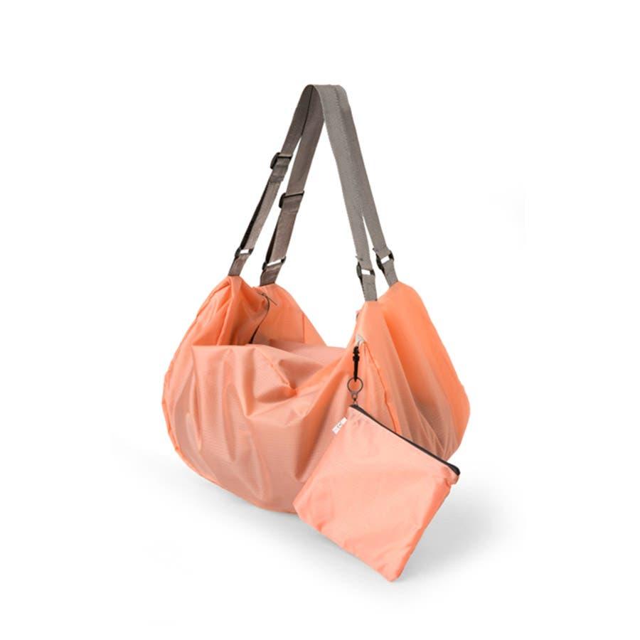 2WAY ショルダーバック リュック バッグ ナイロンバッグ コンパクト 折り畳み ケース付き トラベル 旅行 長さ調節可能 レディース メンズ ユニセックス<br> 2