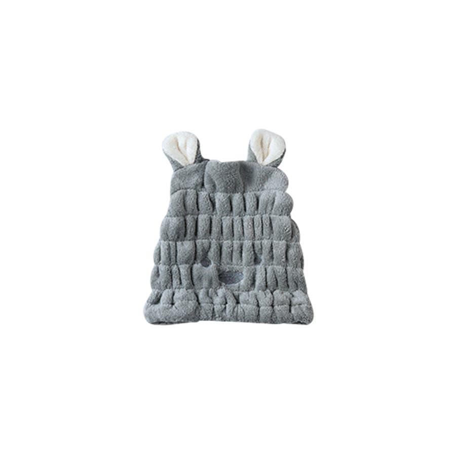 吸水タオルヘアキャプ レディース 子供 ウサギ 耳 みみ タオル 吸収 速乾 柔らか ヘアキャップ<br> 23