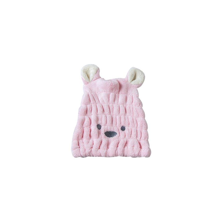 吸水タオルヘアキャプ レディース 子供 ウサギ 耳 みみ タオル 吸収 速乾 柔らか ヘアキャップ<br> 87