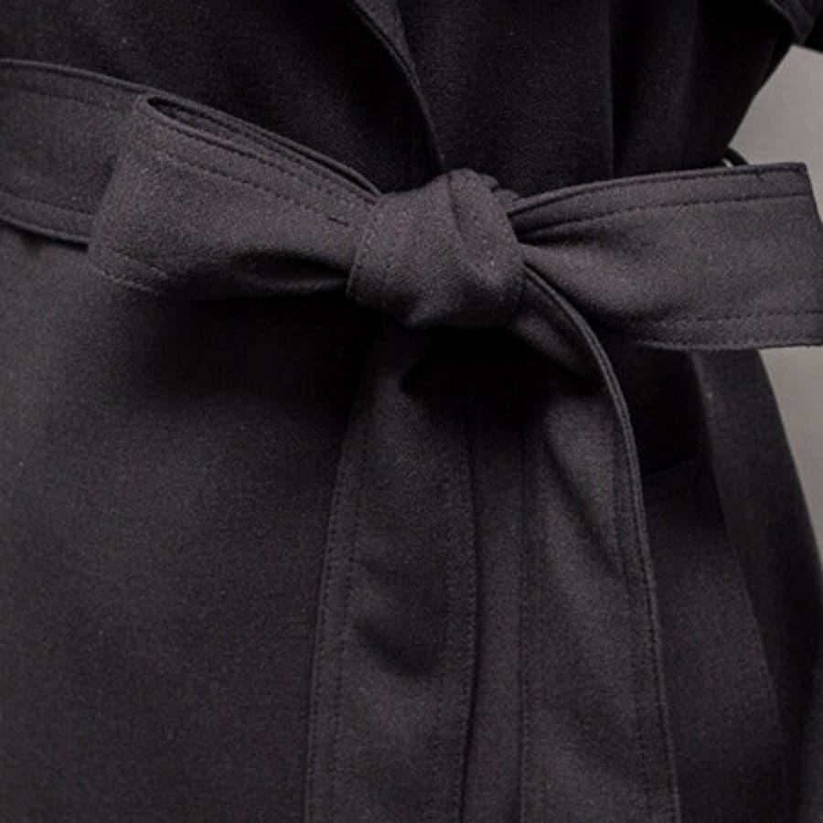 【オリジナル商品】【jk17913】毎年使えるベーシックなデザイン♪スリムフィットトレンチコート(ベルトセット)/春先行 9