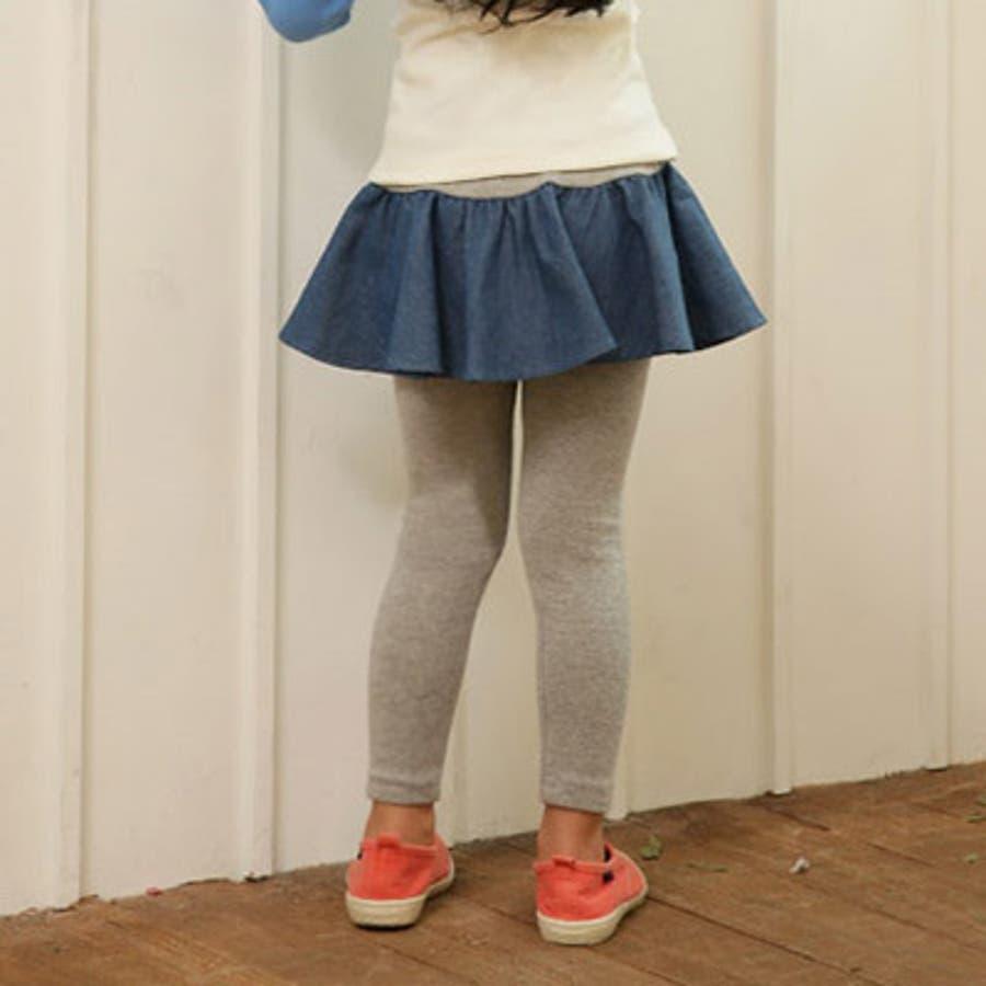【ch-pt18187】韓国子供服 スカッツ スカート レギンス デニム フレア ミニ ストレッチ スパッツ 100cm110cm120cm 130cm 140cm 女の子 子供服 ボトム 5