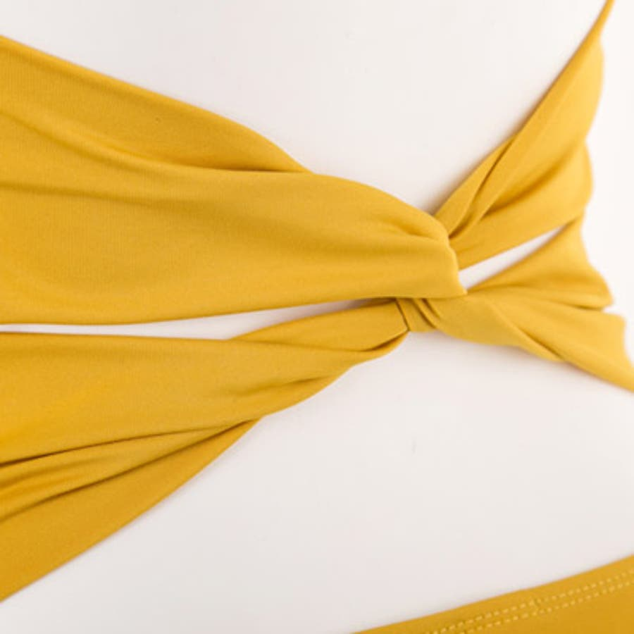 【to18413】水着 レディース モノキニ ワンピース ホルターネック 胸元 セクシー マスタード イエロー 黄色肌見せノーワイヤー ユニーク フリーサイズ 海外 インポート 9