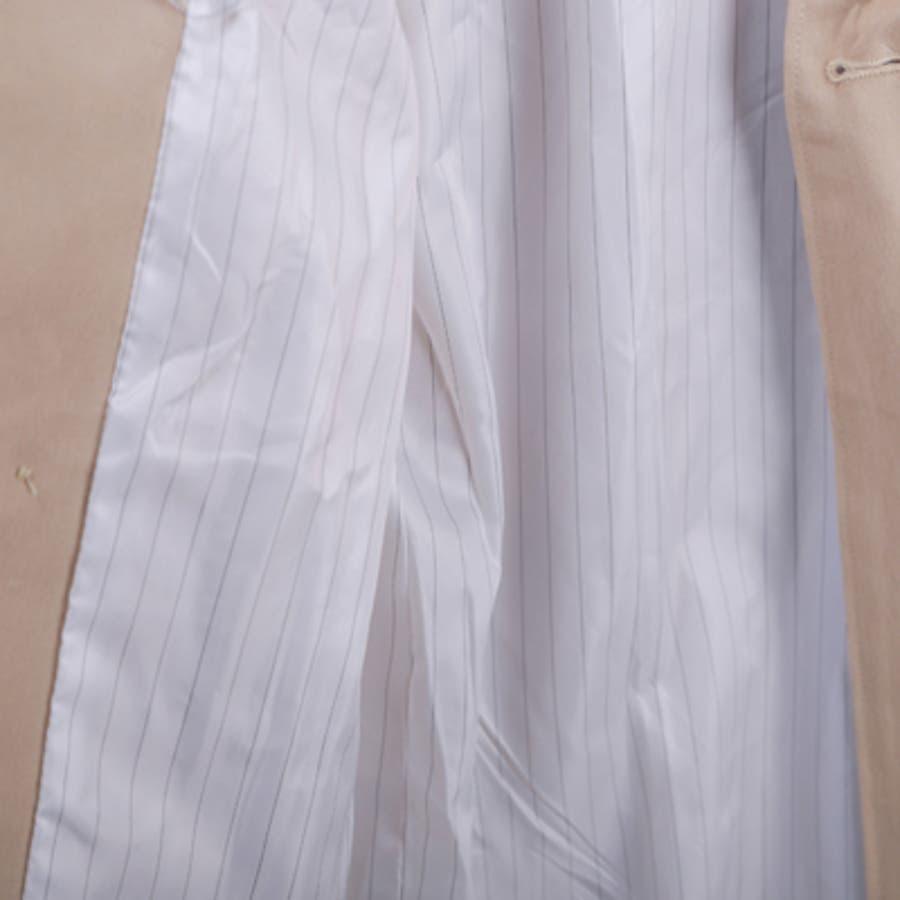 【jk19238】トレンチコート レディース ベージュ ミドル丈 秋 冬 春 ゆったり アウター ロング ダブルボタン ベルト 10