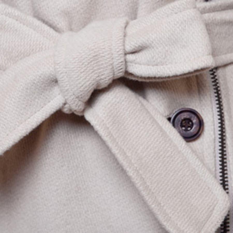 【jk7514】モダンな雰囲気のウールコート☆配色ポイントウールコート 6