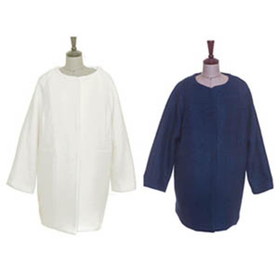 【jk7520】胸ポケットのリボンがアクセント♪今シーズン人気のオーバーサイズでルーズ感が可愛いコート 5