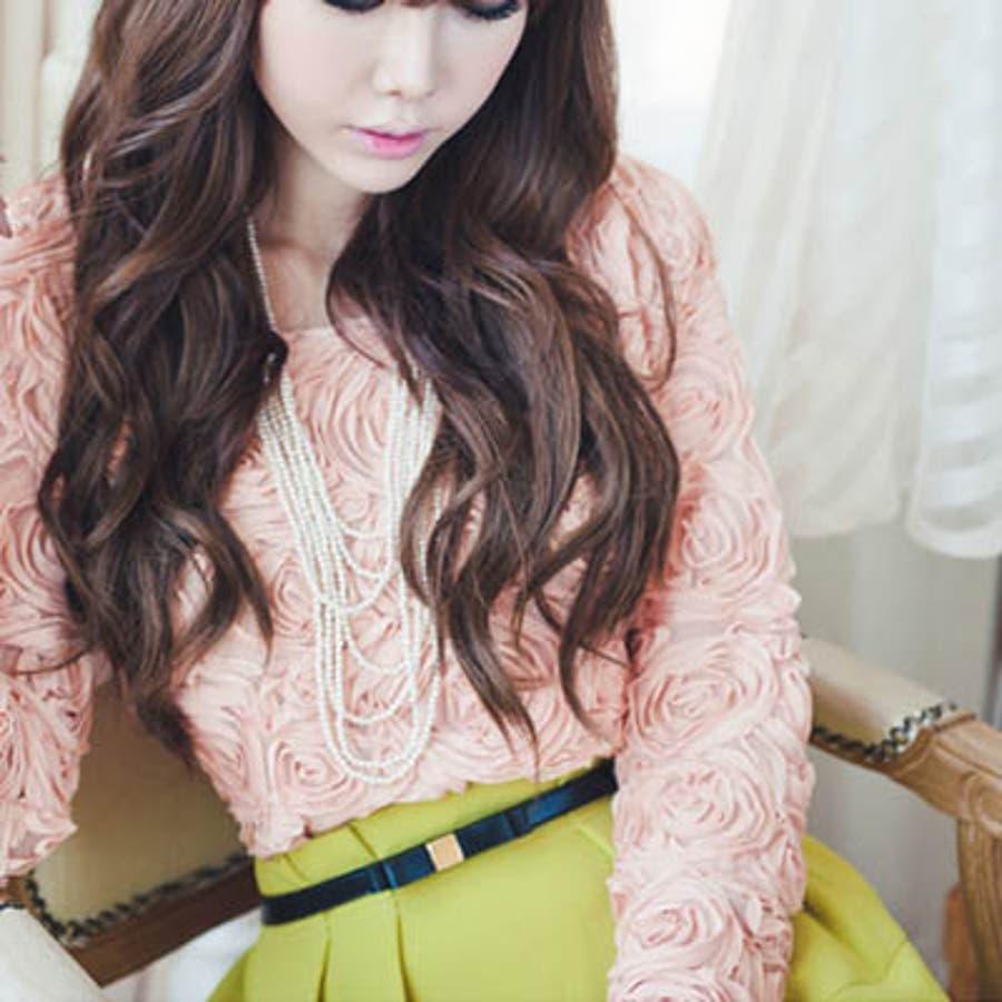 【bl8227】ワンピースやスカートのワンポイントとして使える細いデザインの革リボンベルト(6色) 2