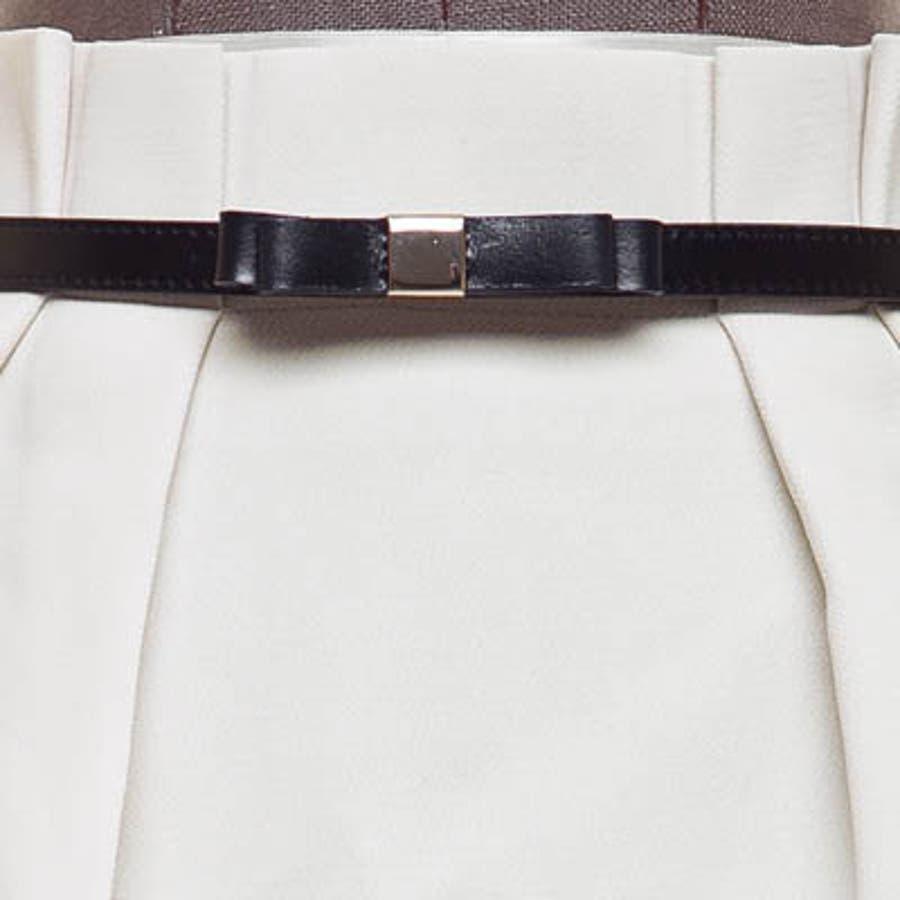【bl8227】ワンピースやスカートのワンポイントとして使える細いデザインの革リボンベルト(6色) 5