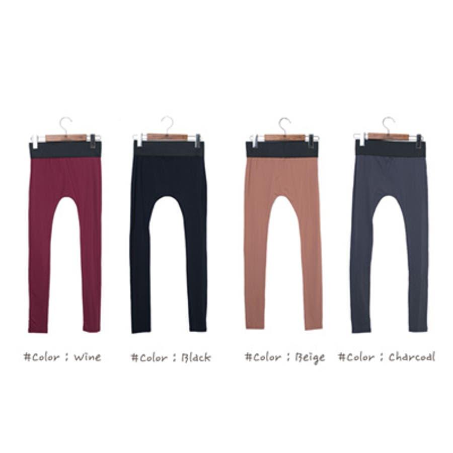 【pt9762】 幅広いウエストゴムのデザインで穿きやすさ◎ウエストゴムベーシックレギンス(4色) 7