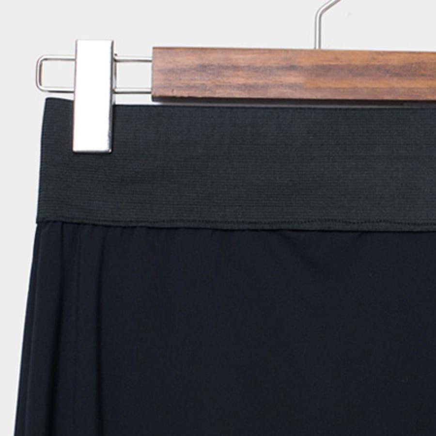 【pt9762】 幅広いウエストゴムのデザインで穿きやすさ◎ウエストゴムベーシックレギンス(4色) 8
