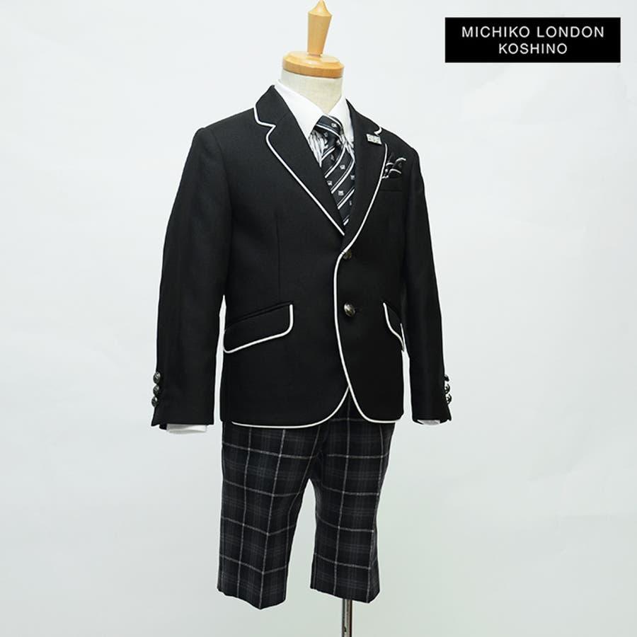 a8d3559525b94 入学式 スーツ 男の子 2771-5401 格子柄パンツのパイピングジャケット ...