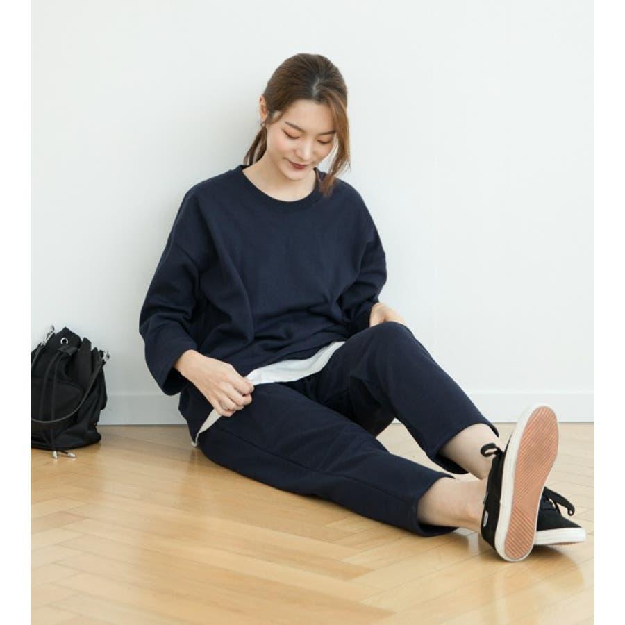 【授乳服 兼 マタニティウェア】マタニティ ルームウェア 授乳 コットン 長袖 パジャママタニティ兼授乳セットアップ/SPN63001 マタニティー ママ 妊婦 韓国 韓国ファッション 大きいサイズ 7