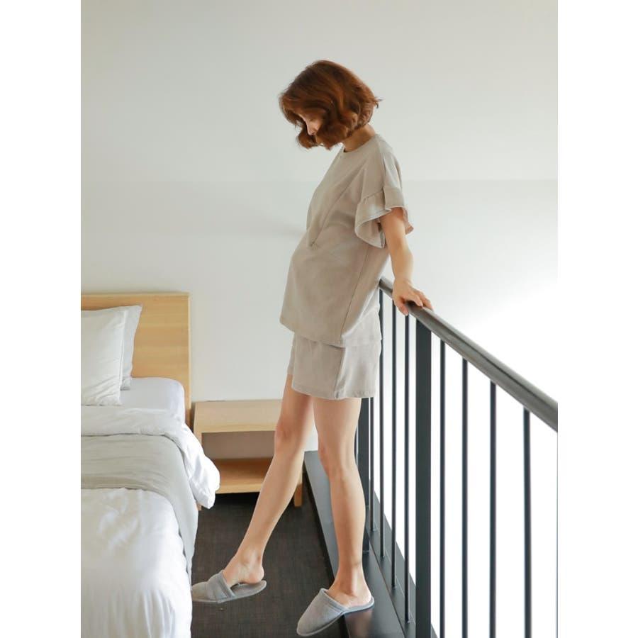 【授乳服 兼 マタニティウェア】授乳 ルームウェア 半袖 半ズボン ショートパンツ セットアップ マタニティ授乳兼マタニティルームウェア/SPN82001 マタニティー ママ 妊婦 韓国 韓国ファッション 大きいサイズ 8