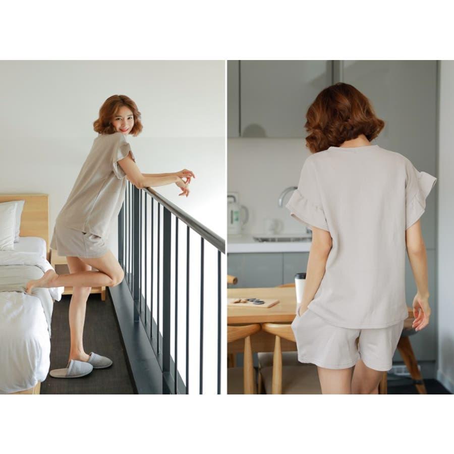 【授乳服 兼 マタニティウェア】授乳 ルームウェア 半袖 半ズボン ショートパンツ セットアップ マタニティ授乳兼マタニティルームウェア/SPN82001 マタニティー ママ 妊婦 韓国 韓国ファッション 大きいサイズ 10
