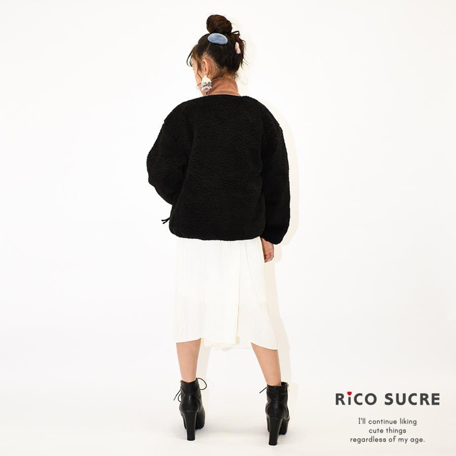 リバーシブルボアジャケット アウター 長袖 あったか 子供服 女の子 小学生 中学生 ファッション キッズ ジュニア 韓国子供服大人っぽい ダンス 130cm 140cm 150cm 160cm 165cm 8