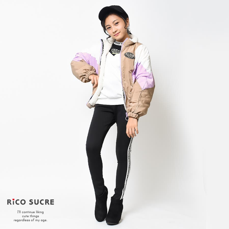 ボアリバーシブルジャケット ナイロン ブルゾン アウター あったか 子供服 女の子 小学生 中学生 ファッション キッズジュニア韓国子供服 大人っぽい ダンス 130cm 140cm 150cm 160cm 165cm 7