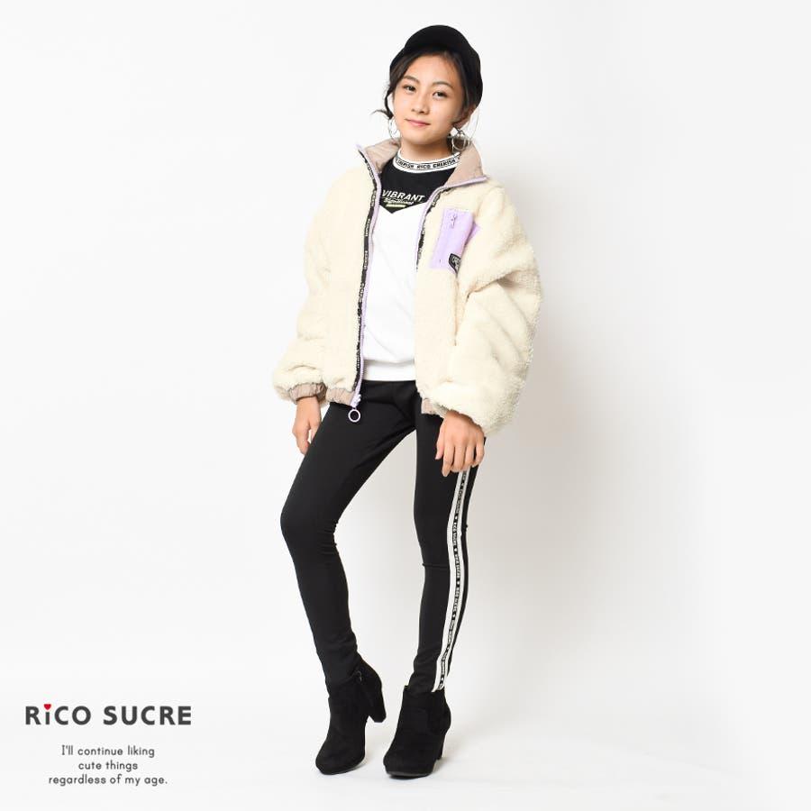 ボアリバーシブルジャケット ナイロン ブルゾン アウター あったか 子供服 女の子 小学生 中学生 ファッション キッズジュニア韓国子供服 大人っぽい ダンス 130cm 140cm 150cm 160cm 165cm 10
