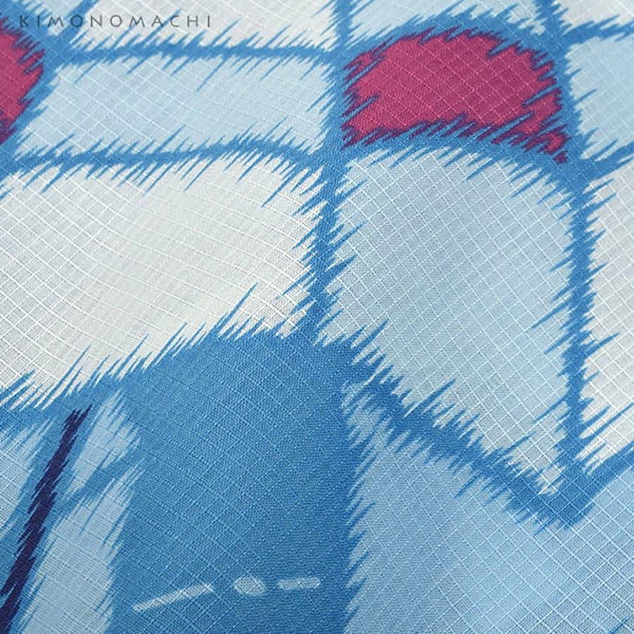京都きもの町オリジナル 浴衣単品「水色レトロ傘」S、フリー、TL、LL 花火大会、夏祭り、夏フェスに 女性浴衣 お仕立て上がり浴衣 5