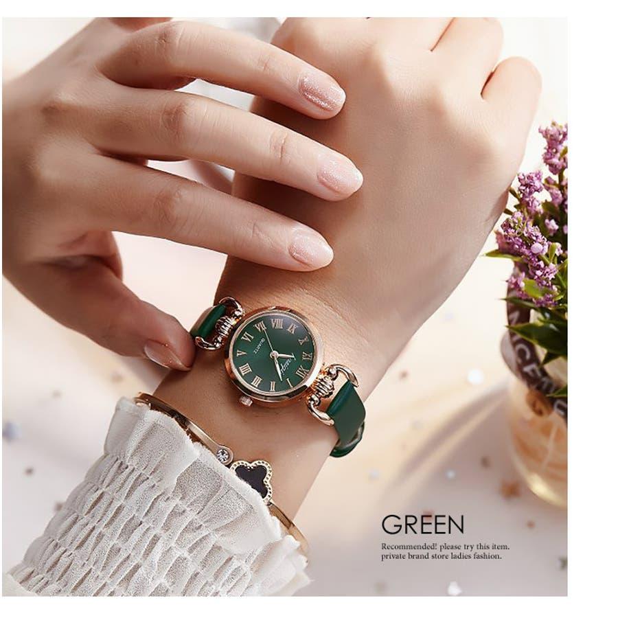 腕時計《シンプルデザインエレガントウォッチ 全4色》 レディース 雑貨 小物 アクセサリー 腕時計 華奢 細ベルト 合皮フェイクレザーシンプル エレガント 上品 大人 可愛い フェミニン エレガント 二次会 結婚式 パーティー きれいめ アナログ 47