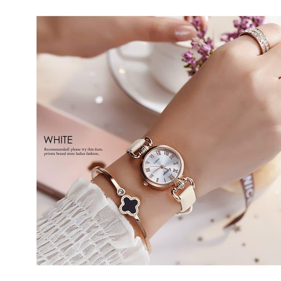 腕時計《シンプルデザインエレガントウォッチ 全4色》 レディース 雑貨 小物 アクセサリー 腕時計 華奢 細ベルト 合皮フェイクレザーシンプル エレガント 上品 大人 可愛い フェミニン エレガント 二次会 結婚式 パーティー きれいめ アナログ 16