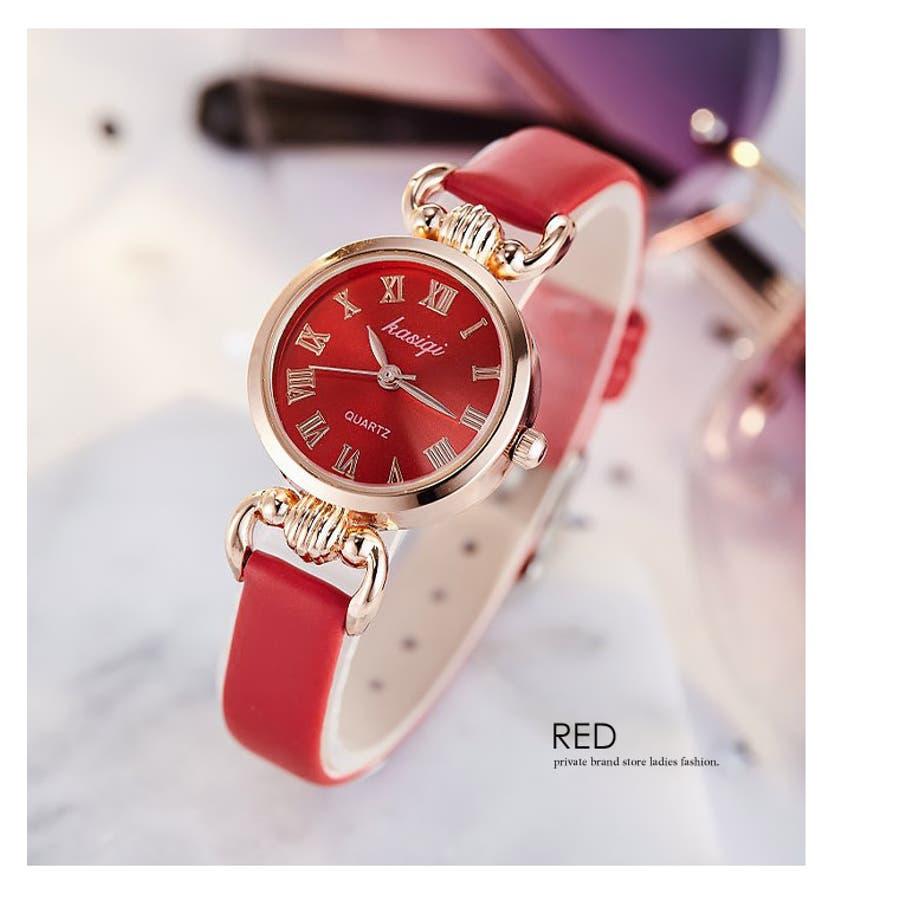 腕時計《シンプルデザインエレガントウォッチ 全4色》 レディース 雑貨 小物 アクセサリー 腕時計 華奢 細ベルト 合皮フェイクレザーシンプル エレガント 上品 大人 可愛い フェミニン エレガント 二次会 結婚式 パーティー きれいめ アナログ 8