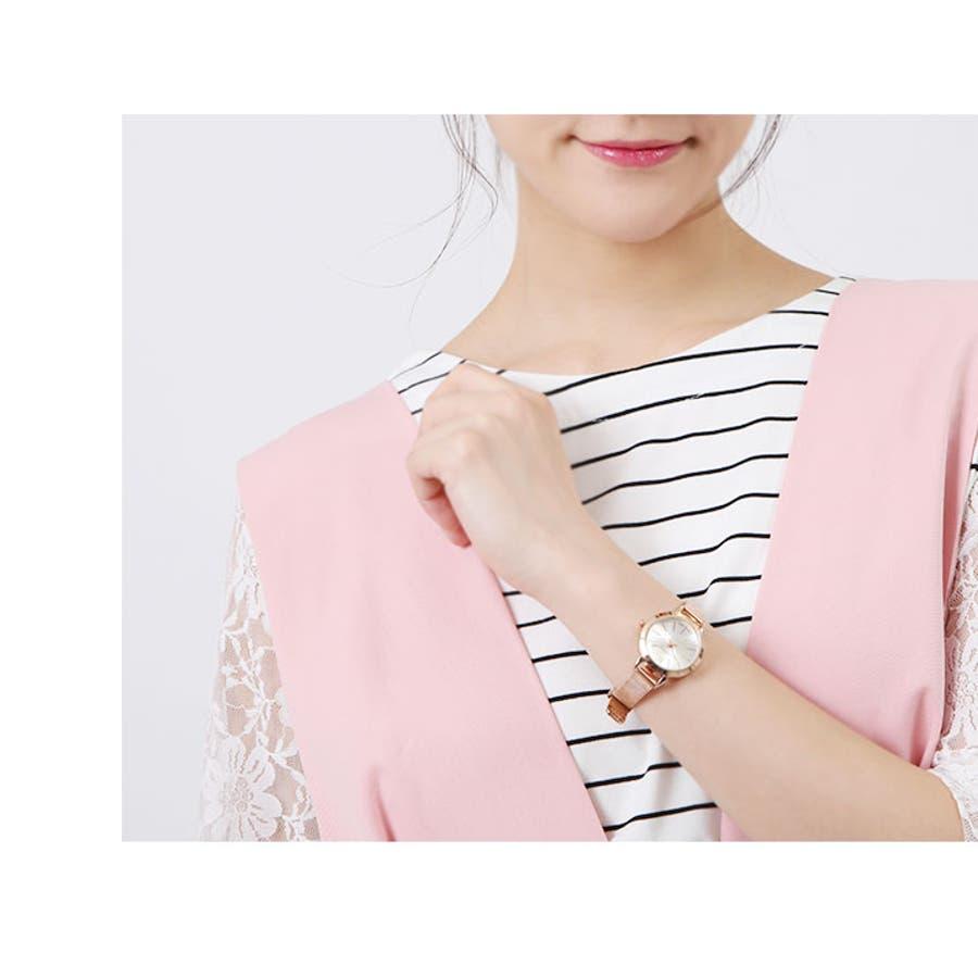 腕時計《全5色 メタルメッシュベルトデザインウォッチ》 レディース 雑貨 小物 アクセサリー 腕時計 メタル メッシュ 華奢小さめサークル ウォッチ シンプル エレガント デイリー ビジネス オフィス パーティー ドレス 結婚式 入学式 アナログ 8