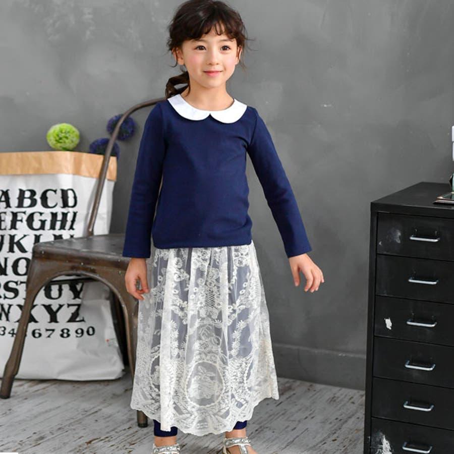 子供服Bee◇デニム風レギパン付きレーススカート◇ 3