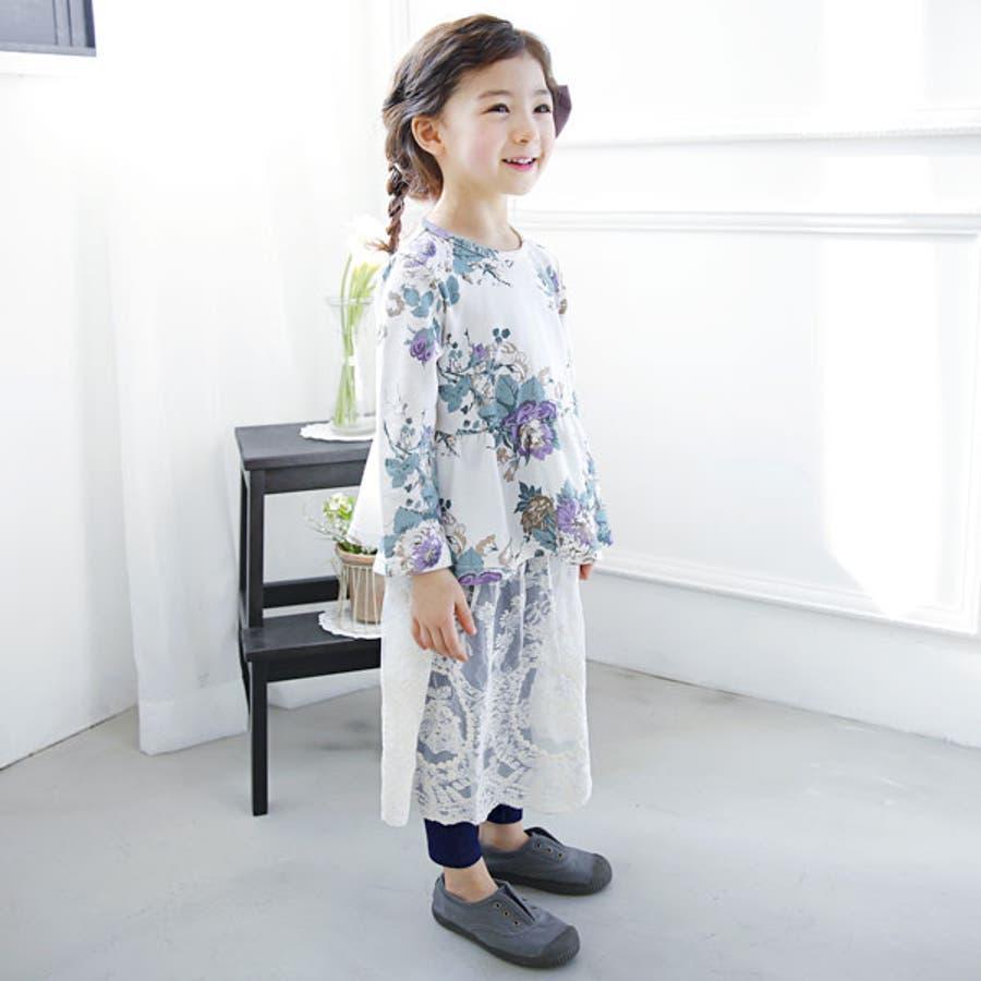 子供服Bee◇デニム風レギパン付きレーススカート◇ 6