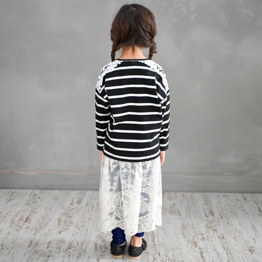 子供服Bee◇デニム風レギパン付きレーススカート◇ 9