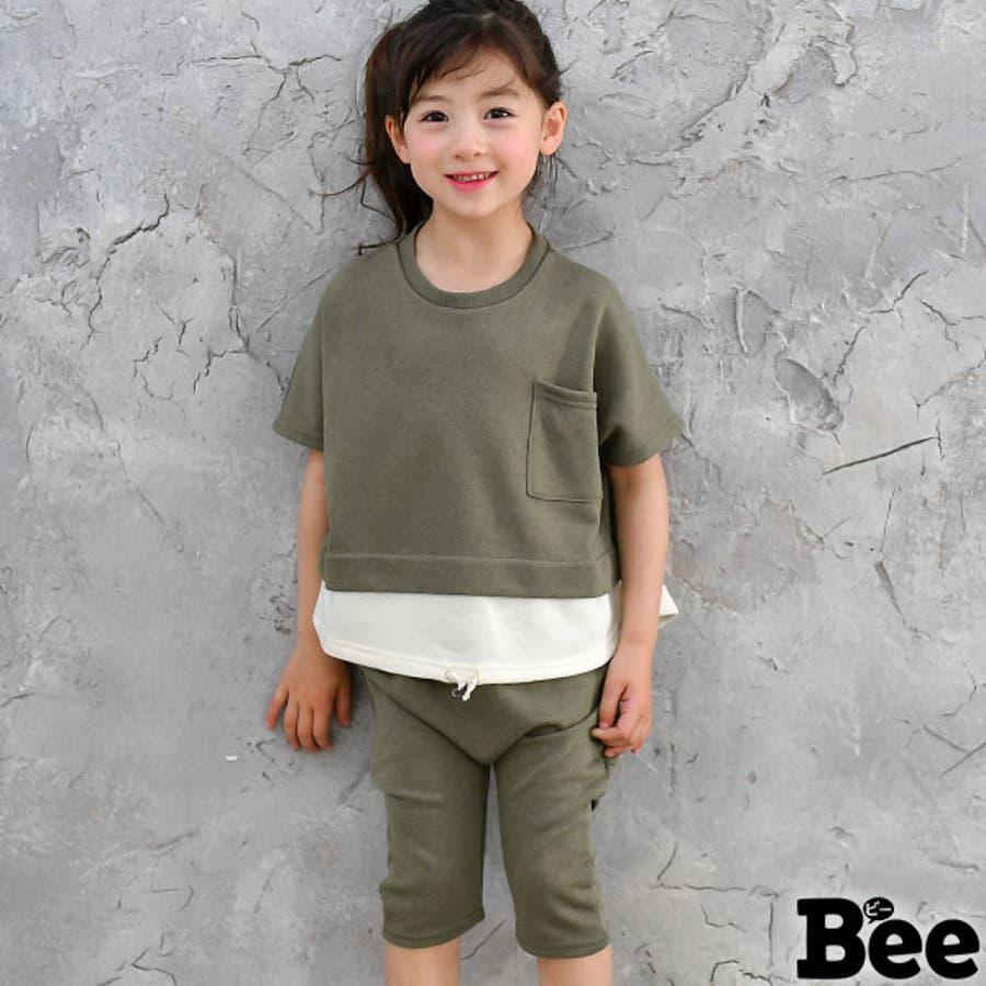 47e3d24a6be66 韓国子供服◇セットアップ◇半袖 トップス Tシャツ ハーフパンツ ...